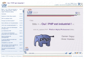 Industrialisation de PHP